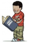 boy with bible clip art
